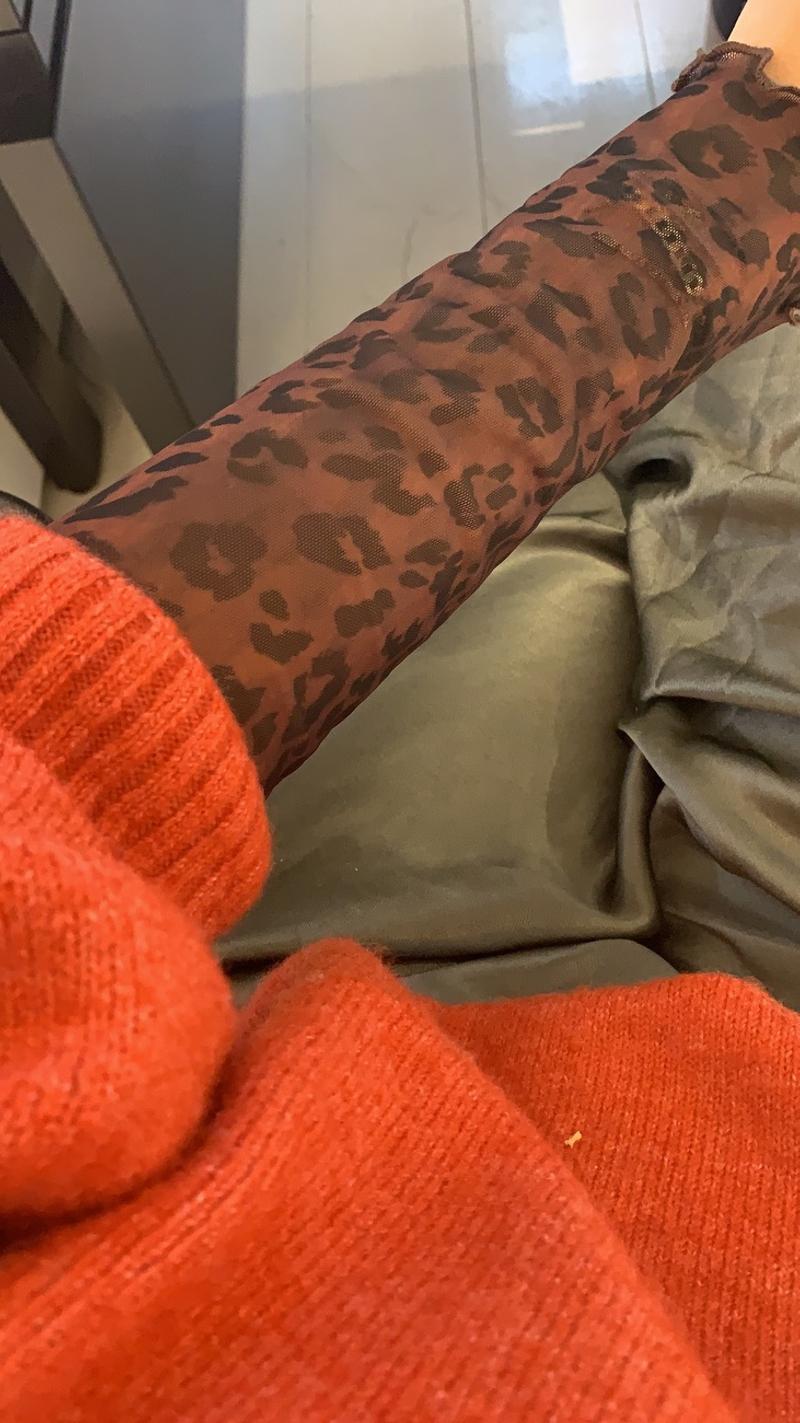 Mesh Leopard Top