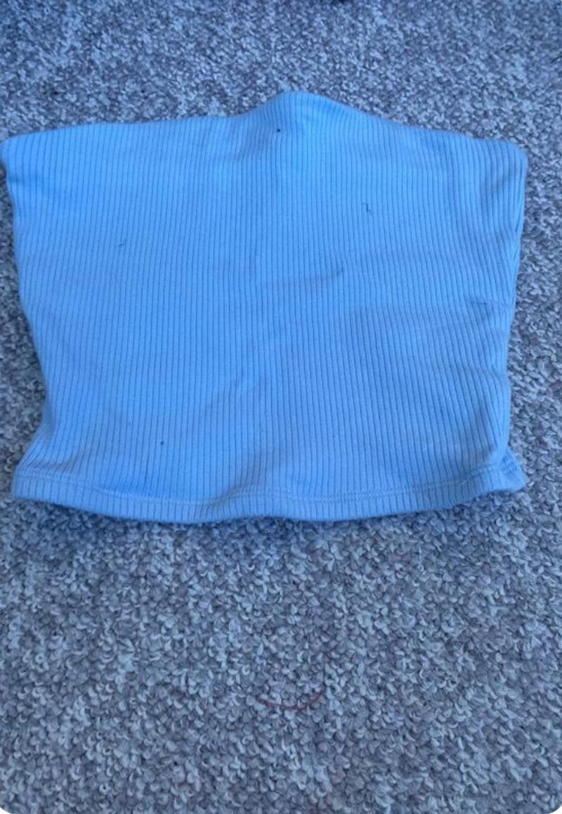 blue tube top
