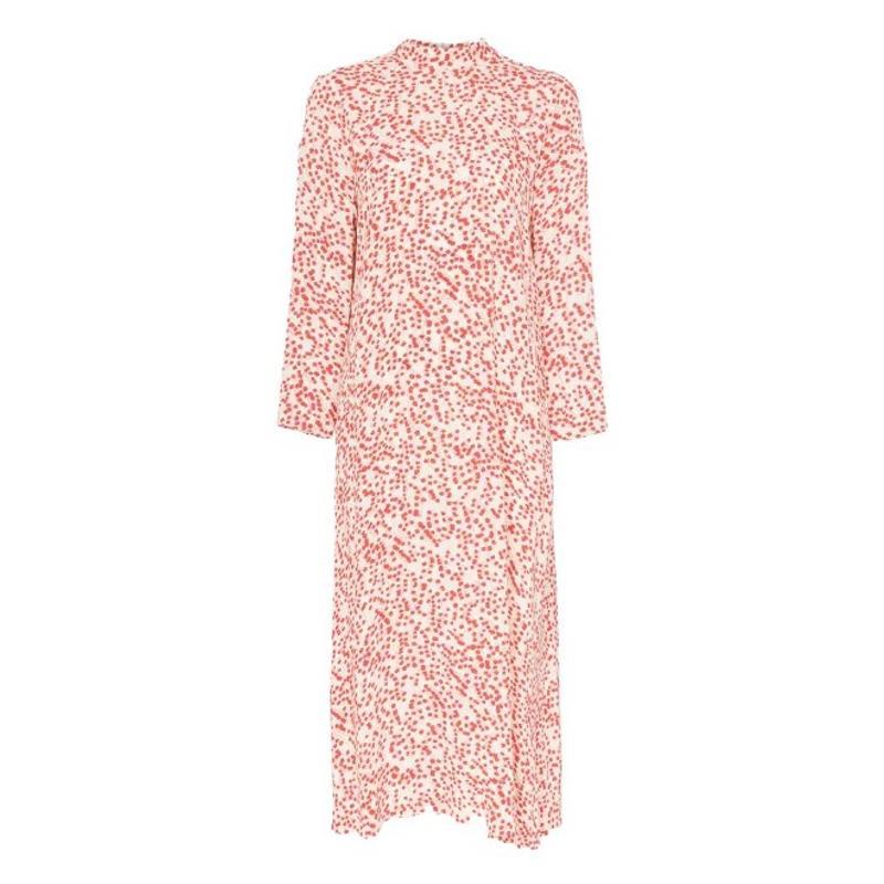 Ganni lange jurk met print