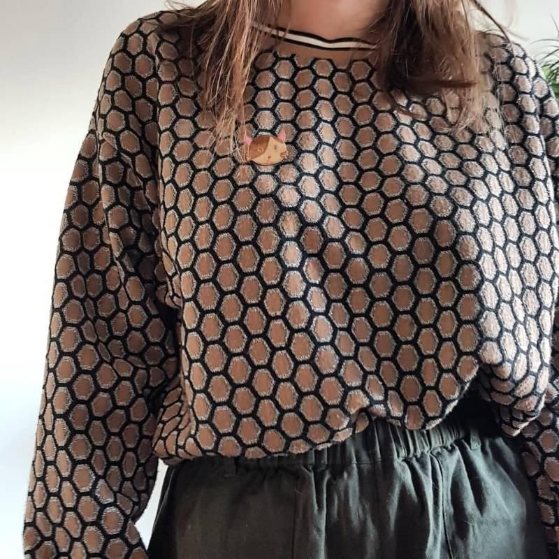 Honeycomb sweater