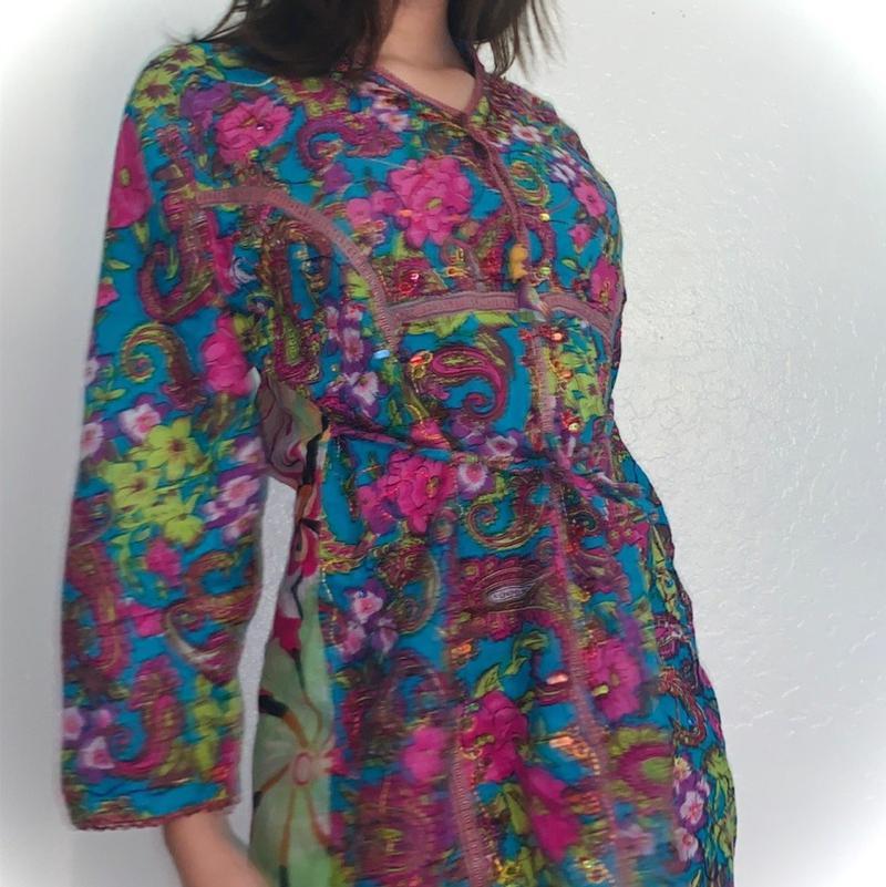 Colorful vintage kimono