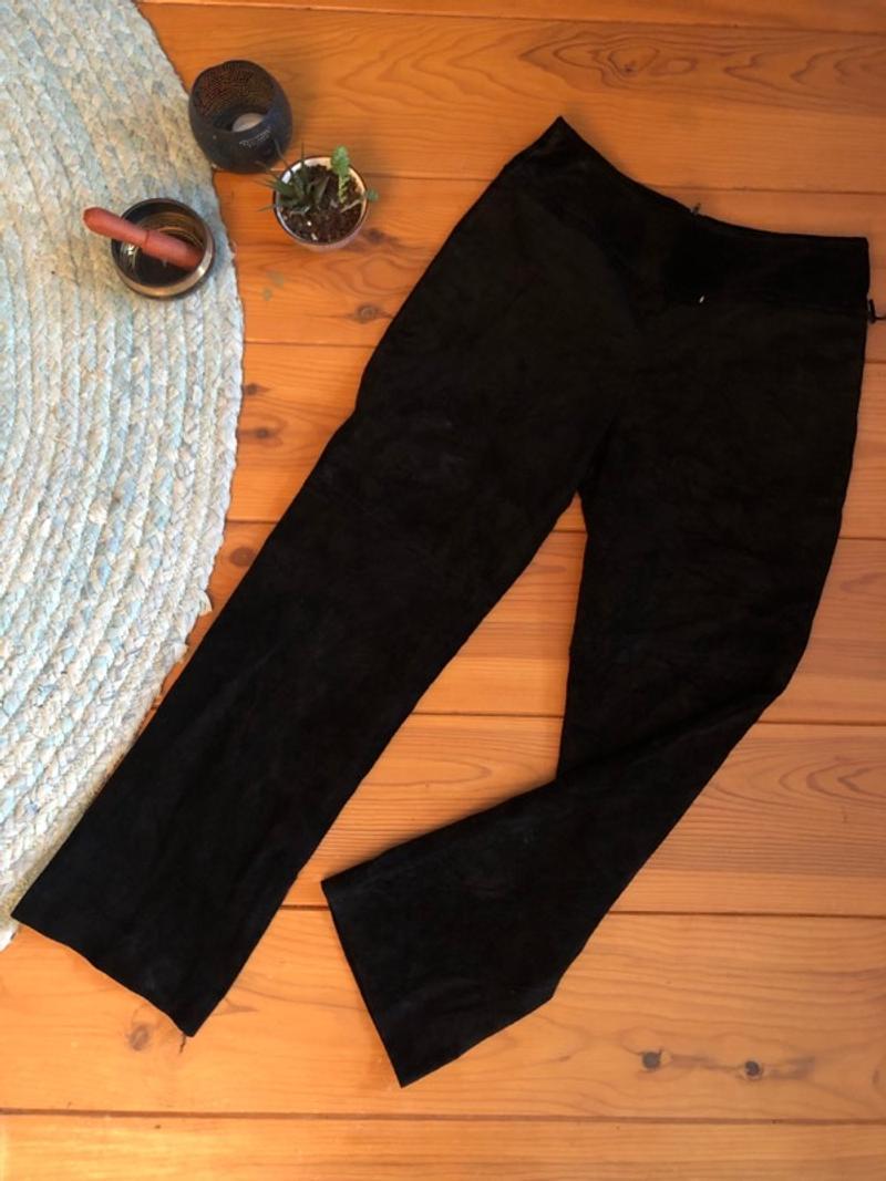 Vintage suede bootcut pants