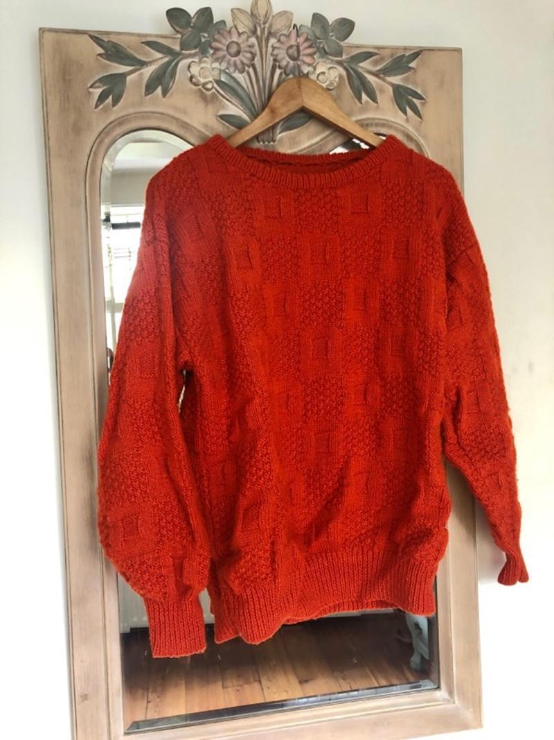 Beautiful wool orange vintage sweater