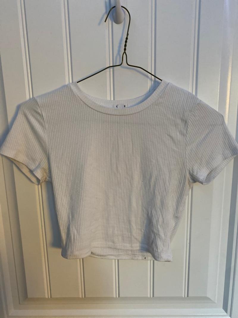 garage white tshirt