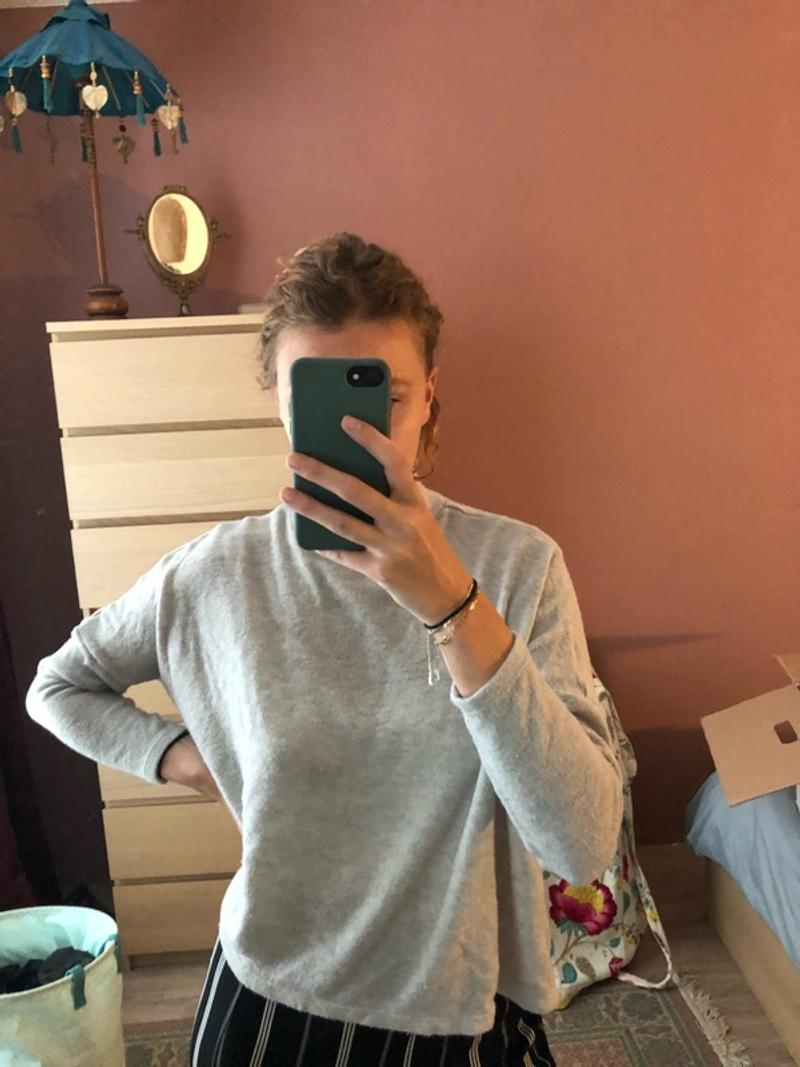 Lilac/grey sweater