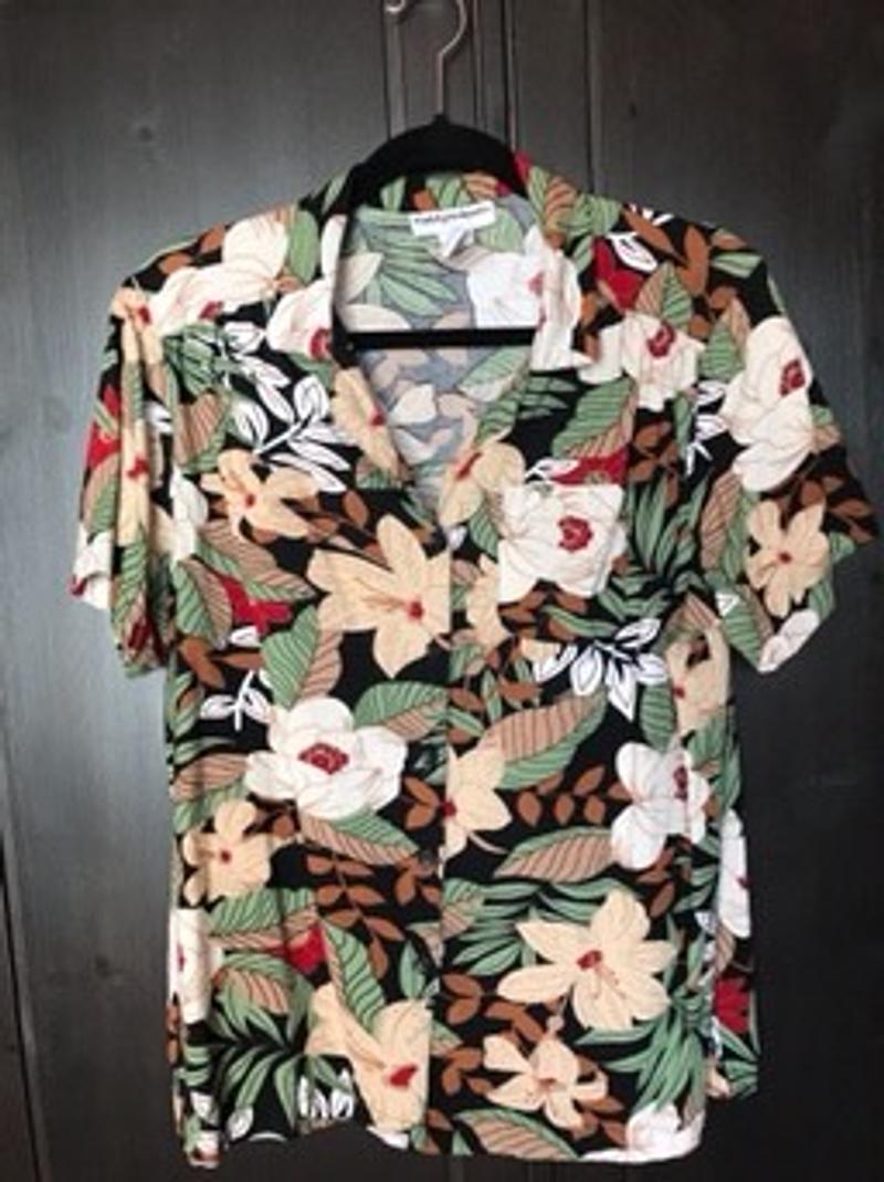 Multicolor shirt met bloemen